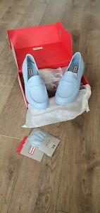 HUNTER Penny Loafers Shoes Pale Blue SIze 6