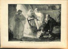 Spring offering table of henry emile vollet painter illustration 1897