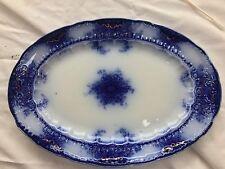 Antique Alfred MEAKIN KELVIN Oval Flow Blue - England 1890's