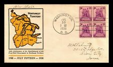 DR JIM STAMPS US NEBRASKA TERRITORY CENTENNIAL 2ND DAY COVER SCOTT 1060 BLOCK