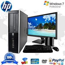 "HP Desktop PC Computer Windows 10 Core 2 Duo 19"" Monitor 4GB Ram 1TB Win 10 WiFi"