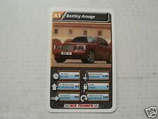 43-LUXURY CARS/AUTO A1 BENTLEY ARNAGE KWARTET KAART, QUARTETT CARD,
