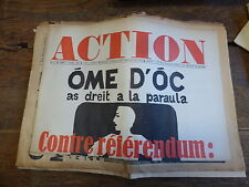 journal action - n° 40  4 mars 1969 : ome d'oc as dreit a la paraula