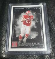2019 Impeccable Football 🔥 Tony Gonzalez SSP /75 Hof Hall of FAME Chiefs Card