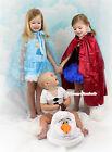 Snow Princess Elsa Anna Halter Dress Olaf Bodysuit Baby Girl Costume Set 2-8Year
