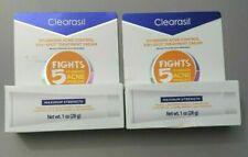 Lot of 2 Clearasil Stubborn Acne Control 5 in 1 Spot Treatment Cream, 1 oz