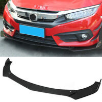 Universal ABS Car Front Bumper Lip Chin Spoiler Wing Body Kit For Civic BMW Benz
