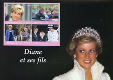Congo 2018 CTO Princess Diana & Sons Prince William Harry 4v M/S Royalty Stamps
