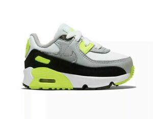 Nike Air Max 90 Volt White Black CD6868-101 Infant Toddler Kids Size 6,7, 8 NEW!