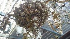 Antico Maestoso lampadario bronzo Rara bellezza e finitura, primi 900 10+1 luci