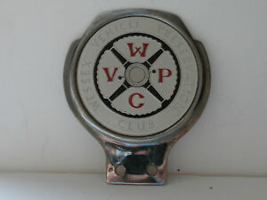 Wessex Vehicle Preservation Club. Car Club Badge. By Renamel.