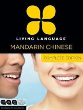 Living Language Mandarin Chinese Complete Edition 4 Books 9 Audio CD Set Lessons