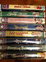 Lot of 8 Disney VHS 4 Still SEALED & 4 Very Good
