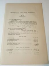 1868 horse trolley Railroad document ALLENTOWN PASSANGER RAILWAY Lehigh Co. PA