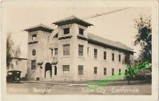 1920s RPPC Photo Postcard MASONIC TEMPLE Lodge YUBA CITY CALIFORNIA 2nd Street