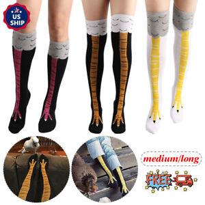 Halloween 3D Cartoon Stockings in Tube Socks Over the Knee Chicken Feet Socks