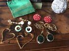 Rare! Vintage Lot Wonderful Earrings Lotto Splendidi Orecchini
