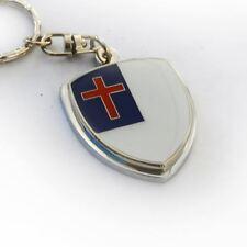 Christian Cross Flag Crest Key Chain