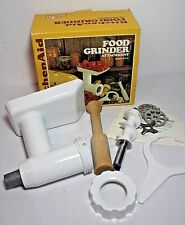 VINTAGE KitchenAid Food Meat Grinder Stand Mixer Attachment (Model FG-A)