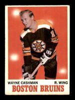 1970-71 O-Pee-Chee #7 Wayne Cashman RC G/VG X1359536