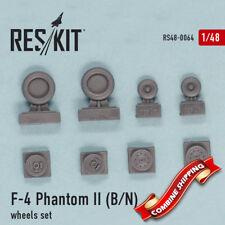 ResKit 48-0064 F-4 Phantom II (B, N) wheels set (resin wheels) 1/48