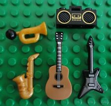 LEGO Acoustic, Electric Guitar, Trumpet, Saxophone, Boom Box~Musical Instruments
