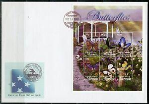 MICRONESIA 2002 BUTTERFLIES SOUVENIR SHEET &  SHEET FIRST DAY COVERS