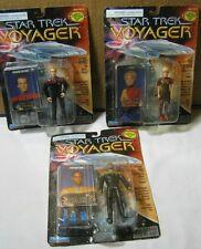 Star Trek Voyager Figures Lieutenant Tuvok Lieutenant Tom Paris & Kes T*