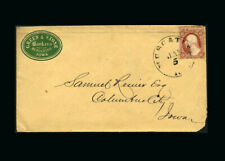 Us Stamp Used, Fine S#25  Iowa Advertising Cover