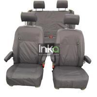 VW California Ocean T6 Inka Fully Tailored Waterproof Seat Covers Airbag Grey