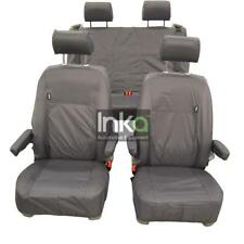 VW California Ocean T6 Inka Fully Tailored Waterproof Seat Covers Airbag Grey