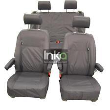 VW California Ocean T6,T6.1 Inka Tailored Waterproof Seat Covers Airbag Grey