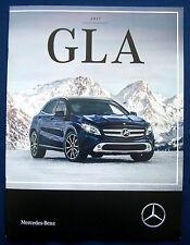 Prospekt brochure 2017 Mercedes GLA (USA)