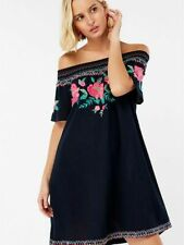 Accessorize Embroidered Off Shoulder Olivia Beach Dress
