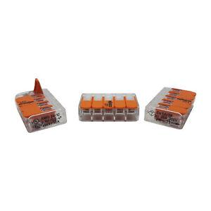 WAGO Klemmen 221-415 - Leuchten Hebel Verbindung Klemmen - für Kabel 0,14 - 4mm²