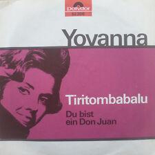 """7"""" 1963 signifiant rare! yovanna: tiritombabalu/Mint -? \"""