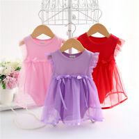 Infant Baby Newborn Girl Bodysuit Romper Suit Jumpsuit Bowknot Clothes Dress Top