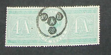 India- Pre Ind- QV-  4 A used  Fiscal stamp- IN-302