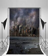 City in War 3x5ft Baby Background Vinyl Photography Backdrop Studio Photo Props