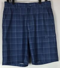 mens Pebble beach golf shorts 32x10 performance plaid polyester blend