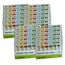 100Pack Dental Absorbent Paper Points 15-40# Taper 0.04 Disposable Endo Tips