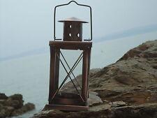 Ship Rectangular Copper Lantern -Lamp - Port Side starboard Masthead/ Garden