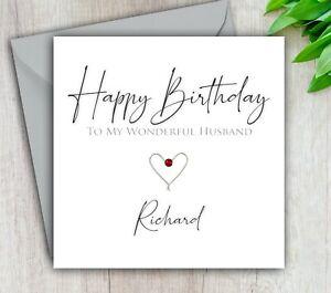 Birthday Card Husband, Boyfriend, Fiance, 30th, 40th, 50th Personalised Handmade