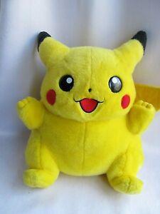 "Vtg Smiling Pikachu Pokemon Large 16"" Jumbo Original TOMY Plush Nintendo RARE!"