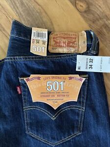 LEVI'S Original Fit 501 Straight Leg Button-Fly 34 x 32 NWT's!
