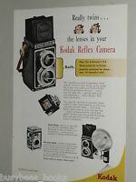 1948 KODAK advertisement page for Eastman Kodak Reflex camera, twin lens