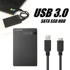 2.5'' Portable USB 3.0 External Hard Drive HDD SATA Disk Enclosure Case Black