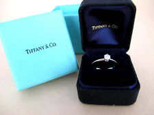 Auth Tiffany & Co. Platinum 950 1P Diamond 0.25ct Ring Engagment ring Band 5.5