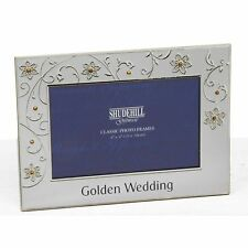 Petal Jewel Silver Frame 50th Anniversary Wedding Photo Picture Gift Novelty