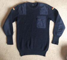Germany Military sweater men's sz 50 Pocket Patches Navy Vtg
